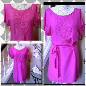 Trina Turk pink silk dress